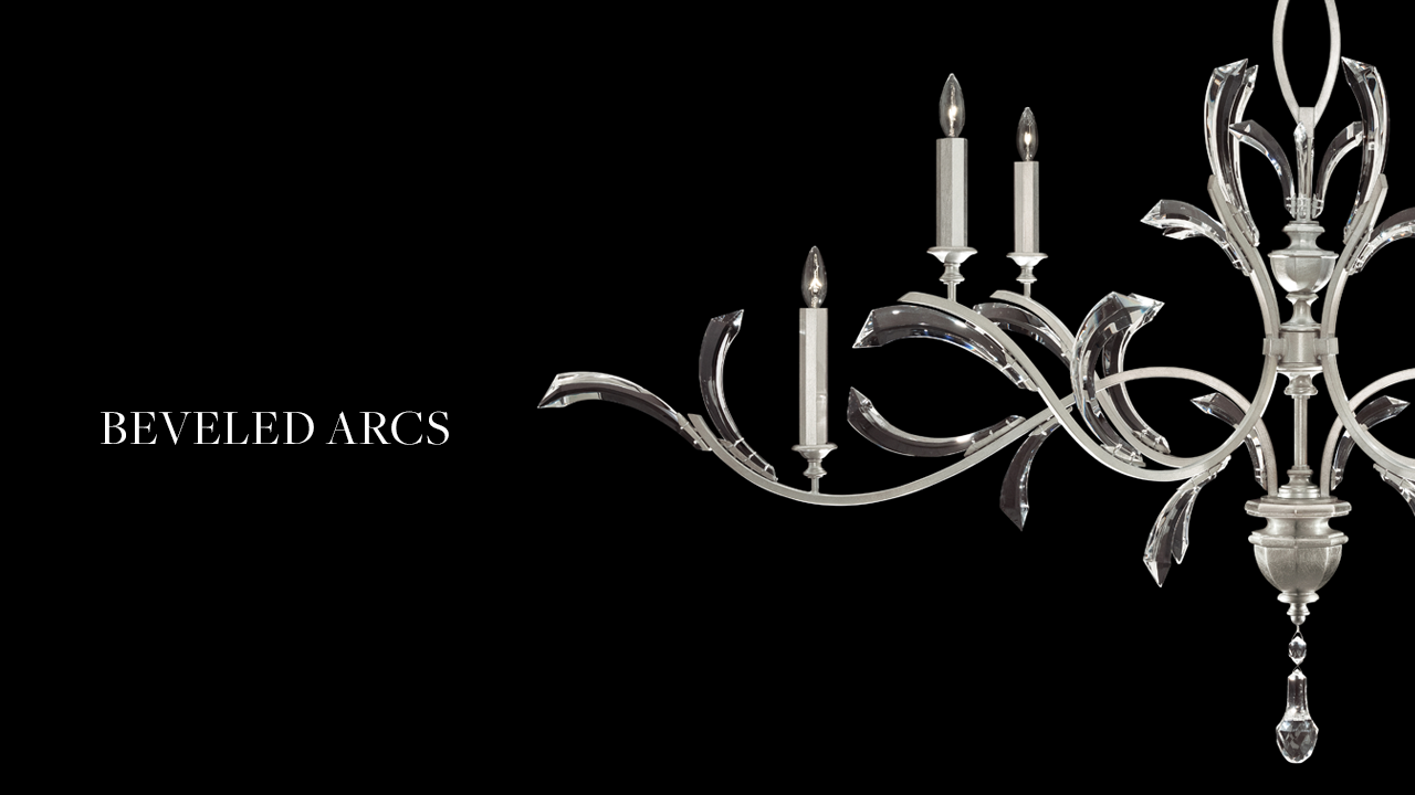 Beveled Arcs Refresh - Fine Art Handcrafted Lighting